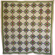 Quilt ~ Postage Stamp 9-patch - 19th century ~Double Border