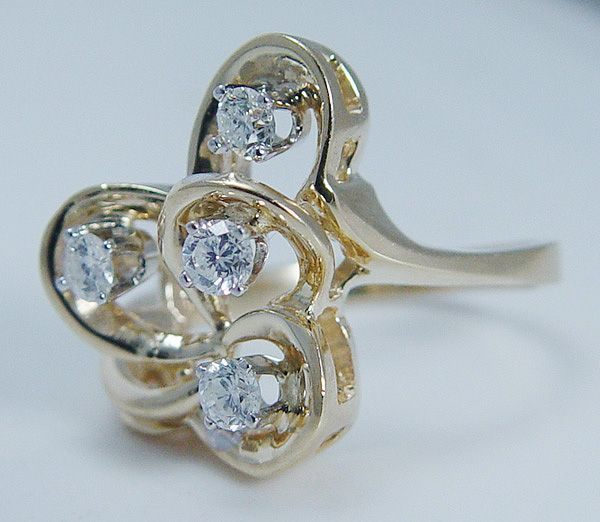 "Vintage ""14K Yellow Gold"" .40 carat Diamond Ring So Pretty 6.5 grams"
