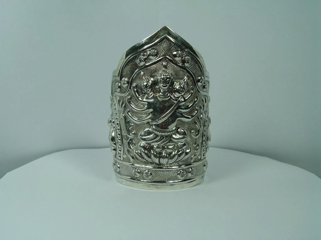 Rare Chinese Export .925 Sterling Silver Cuff Bracelet