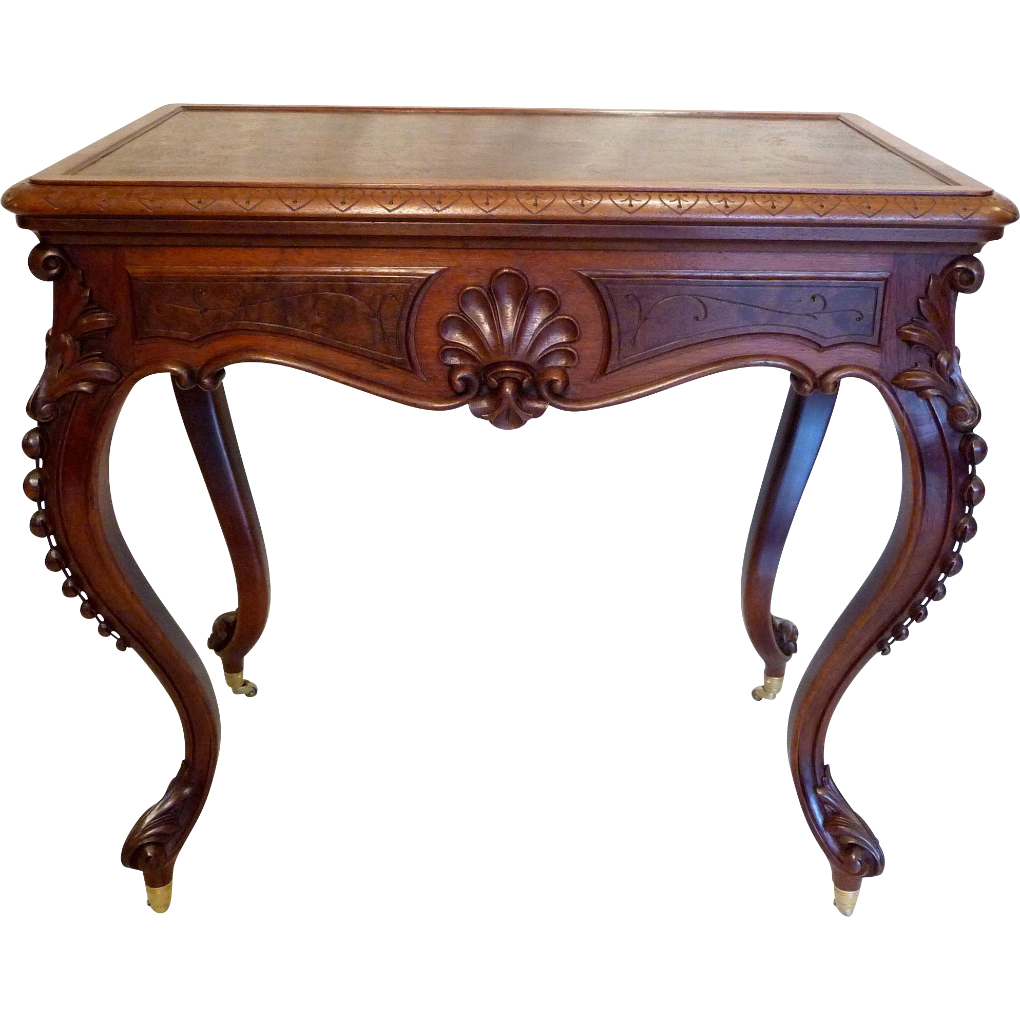Library Table  American Victorian in Walnut c. 1870