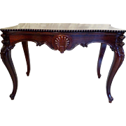 Library / Center Table in Rosewood American Victorian c. 1860