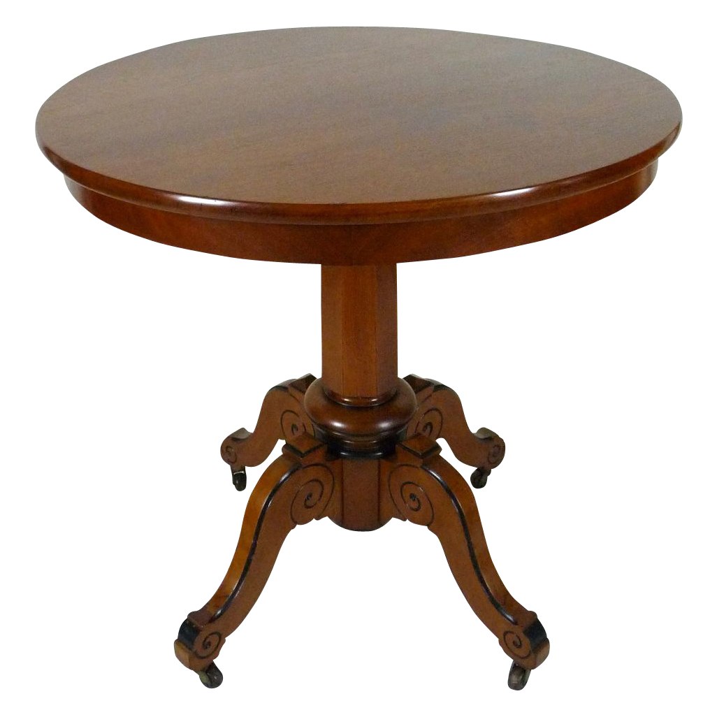 Center Table American Victorian in Walnut c. 1870