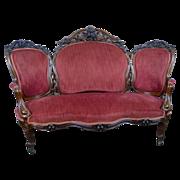 Sofa American Victorian c. 1870 Rosewood