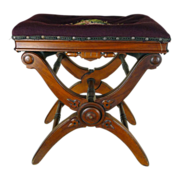 Adjustable Piano Stool  American Victorian c. 1870s
