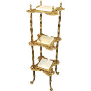 Brass and Onyx Stand c. 1890