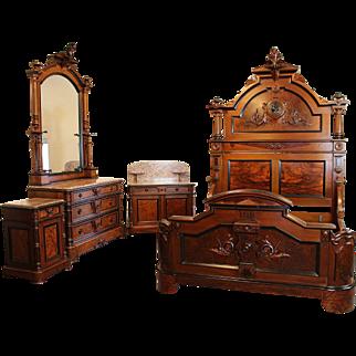 American Victorian Bedroom Suite c. 1870's