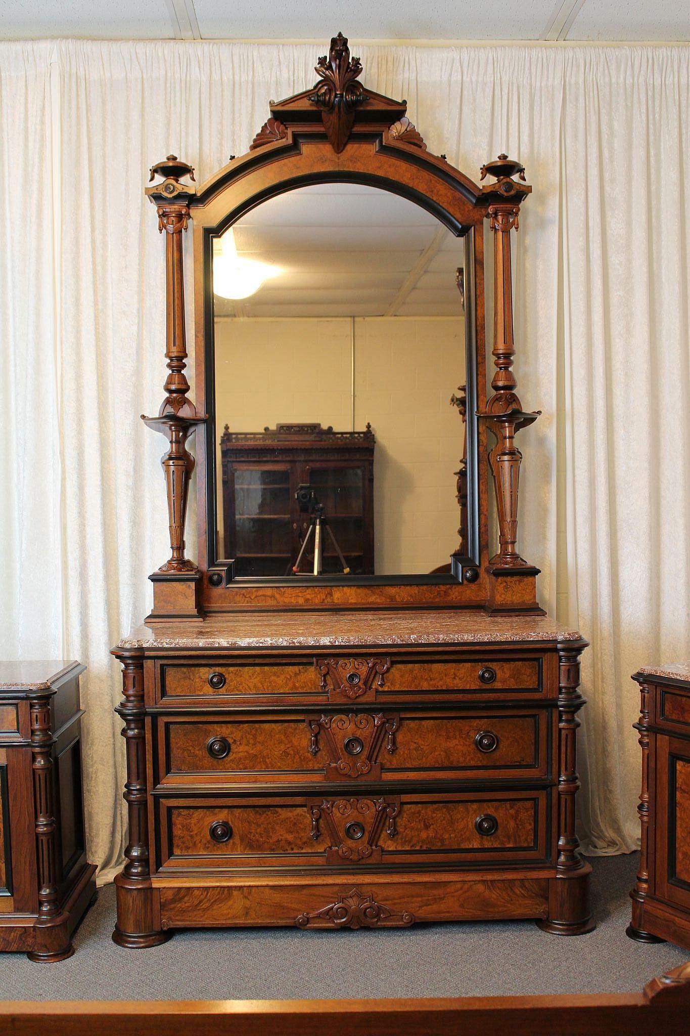 American Victorian Bedroom Suite C 1870 S From