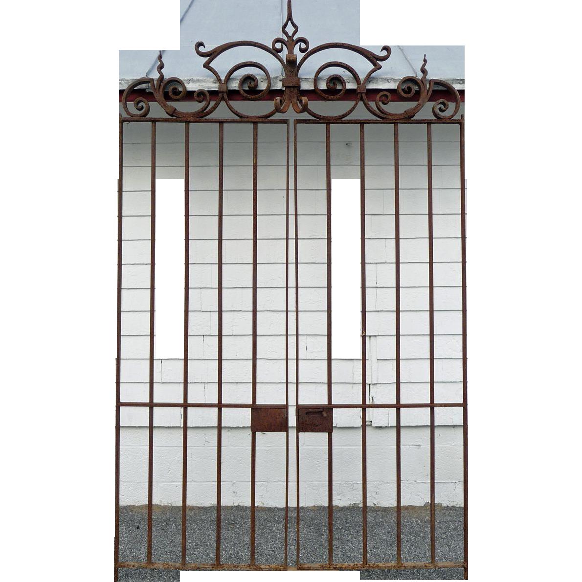Wrought iron garden gates 19th century baltimore dixon s antiques ruby lane