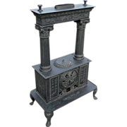 Parlor Stove Cast Iron c. 1840 Troy, New York