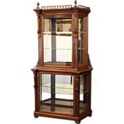 China Cabinet Display Cabinet for Silver, Cut Glass, Collectibles  Victorian c. 1880