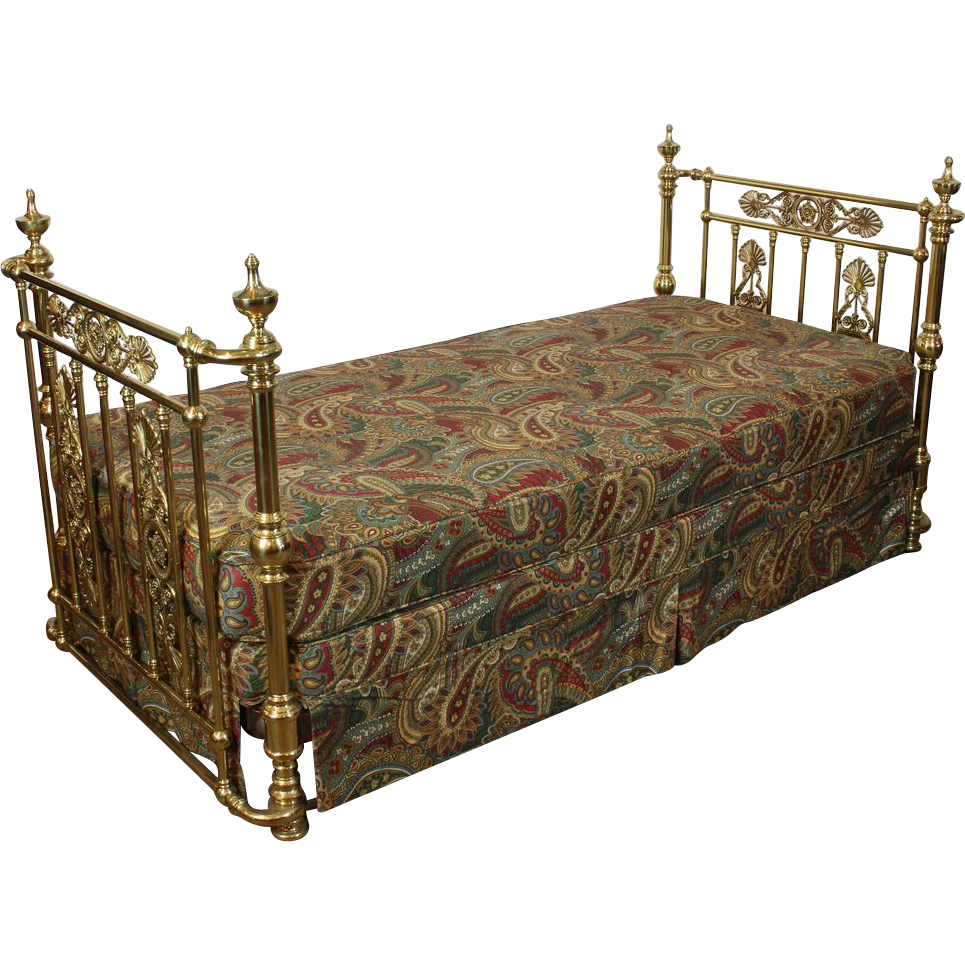 Antique Victorian Metal Bed : Antique brass bed victorian c sold on ruby lane