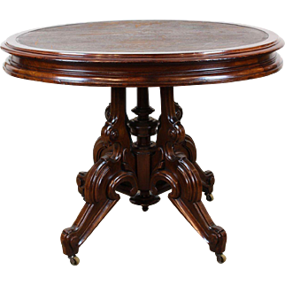 American Victorian Library Table Thomas Brooks c. 1870s