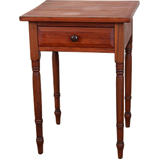 American One Drawer Side / Lamp Table c. 1850