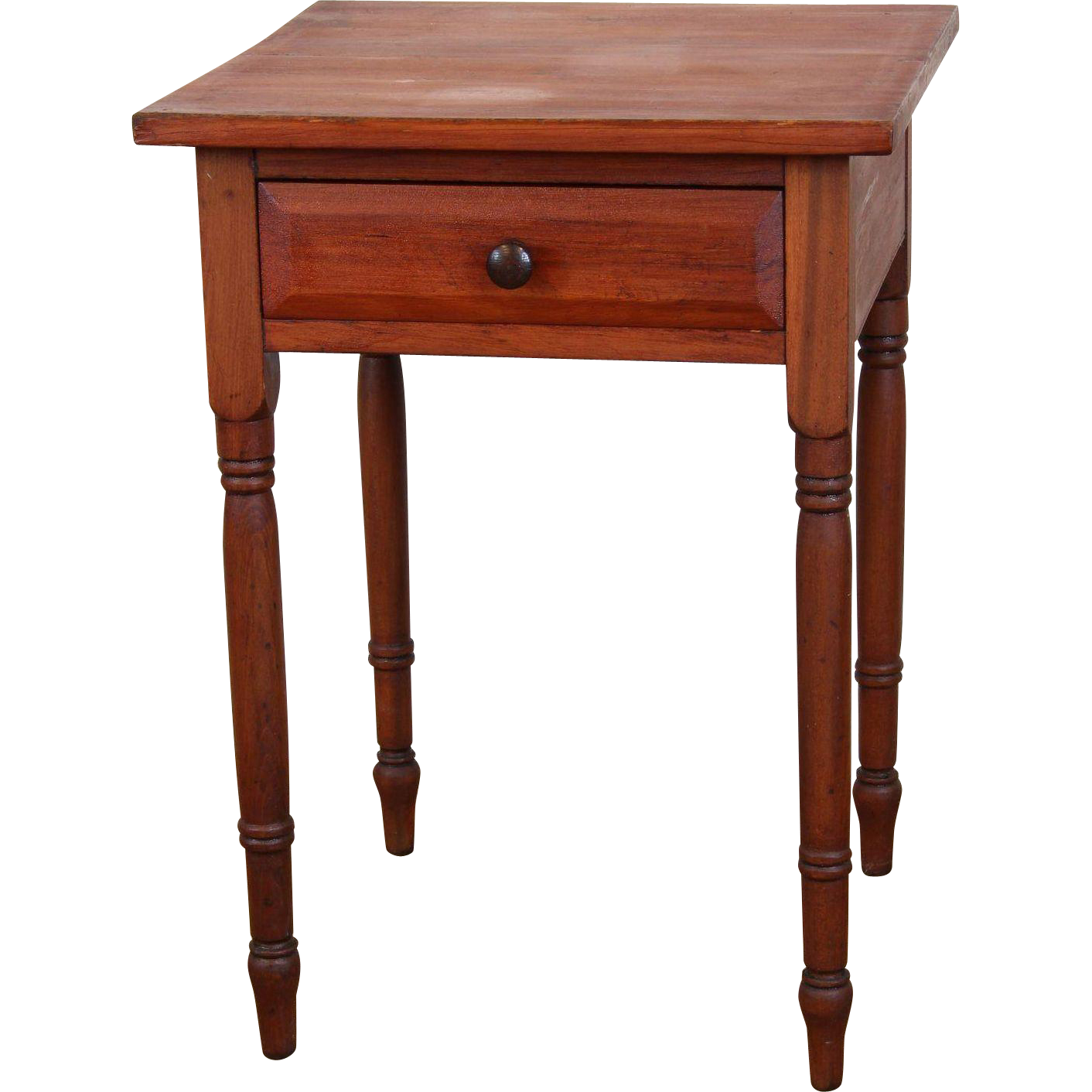 American one drawer side lamp table c 1850 from for C table with drawer