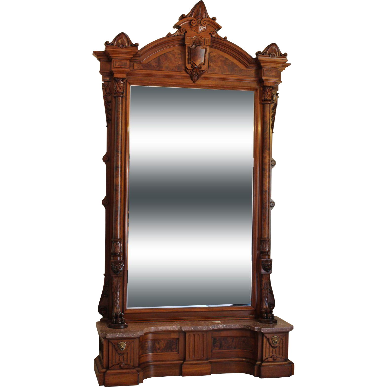 American victorian hall mirror c 1870s dixon 39 s antiques for Victorian mirror
