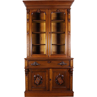American Victorian  Secretary Desk and Bookcase c. 1870