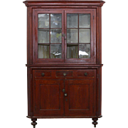 Grain Painted Corner Cupboard York County c.1840