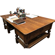 Partners Desk in Quartersawn Tiger Oak c. 1890