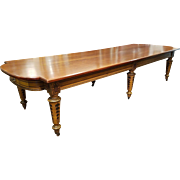 12'    Dining /  Conference Table c. 1890s