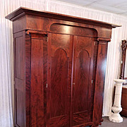 Empire Wardrobe Baltimore / Philadelphia c. 1820 restored