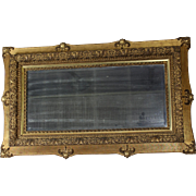 Beveled Mirror in Gold Frame c. 1890