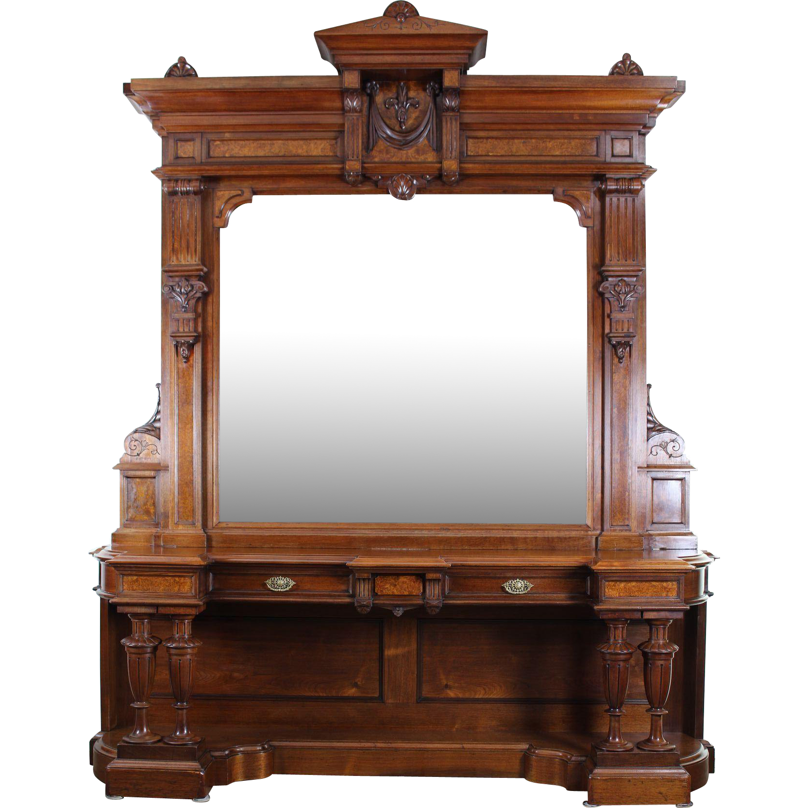 Large Victorian Dining Room: American Victorian Entrance Hall Or Dining Room Mirror C
