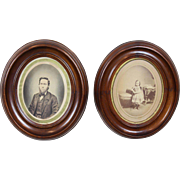 Oval Deep Well Victorian Picture Frames c. 1870