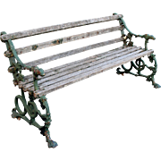 Antique Cast Iron Dog, Serpent and Grape Garden Bench Coalbrookdale