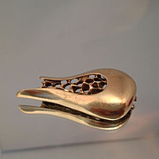 Modernist 14k Signed Organic Mid Century Pin