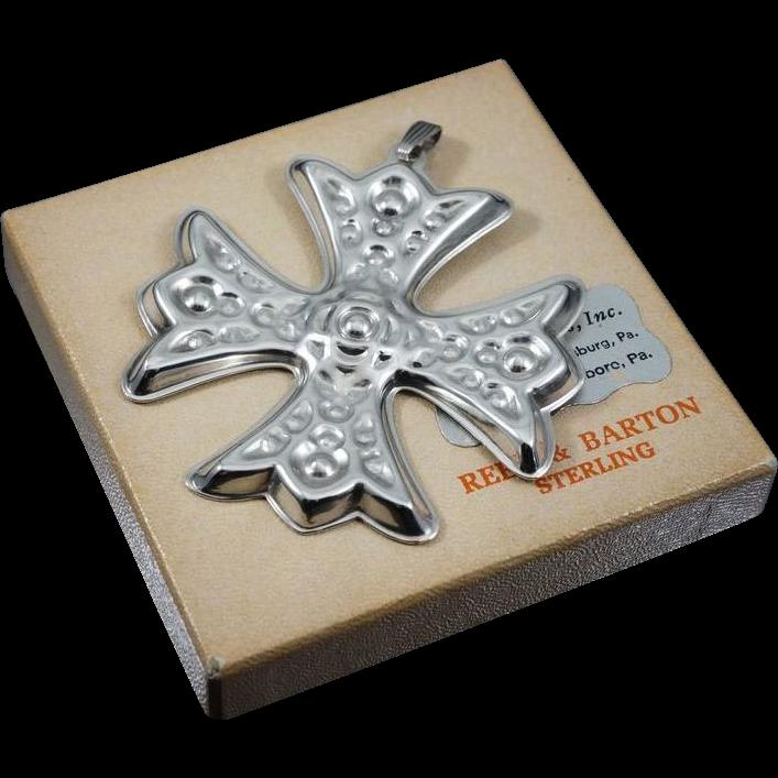 Reed And Barton Christmas Cross