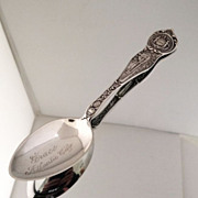 Atlantic City Sterling Souvenir Spoon Circa 1900