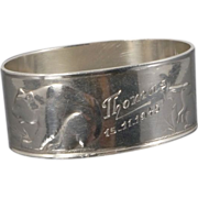 Fabulous David Andersen 830 Silver Animal Napkin Ring