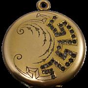 Vintage Art Nouveau Gold Filled Locket