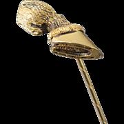 Antique Equestrian Sterling Hoof Stick Pin