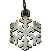 James Avery Sterling Silver Snowflake Charm Pendant