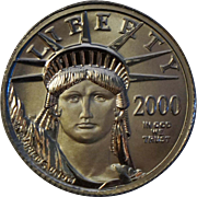 2000 Ten Dollar Platinum Eagle $10 .9995 1/10 Coin