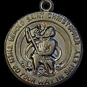 Vintage Sterling St. Christopher Charm