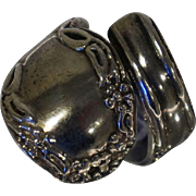 Vintage Mexican Sterling Silver Spoon Ring Sz 5.5