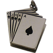 Vintage Playing Cards Spades Charm Poker