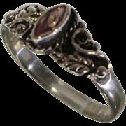 Vintage Native American Sterling Amethyst Ring Sz 8.75