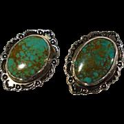 Carol Felley Sterling Turquoise Earrings 1993