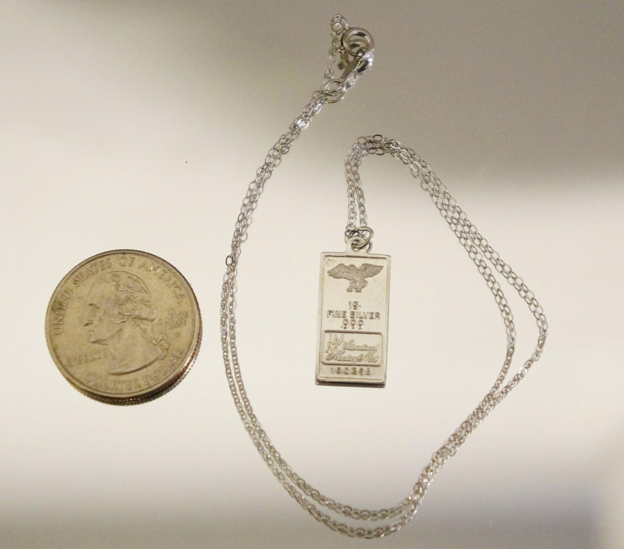 999 silver pendant sterling silver necklace 16 quot from