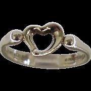 Tiffany & Co Elsa Peretti Open Heart Sterling Ring Sz 7.5