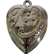 Forget Me Not Sterling Puffy Heart Charm