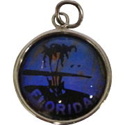 Butterfly Wing Florida Sterling Charm Pendant