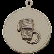 CB Radio Sterling Charm Pendant