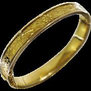 Vintage Gold Filled Floral Bangle Bracelet 2