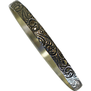 Danecraft Sterling Repousse Slide Over on Bangle