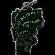 Vermont Sterling Enamel State Travel Souvenir Charm