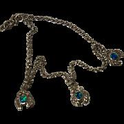 Sterling Opal Crab Anklet